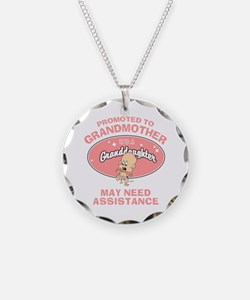 Funny New Granddaughter Grandmother Necklace