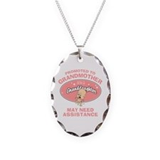 Funny New Granddaughter Grandmother Necklace Oval