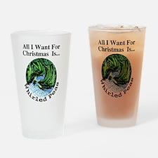 Christmas Peas Drinking Glass