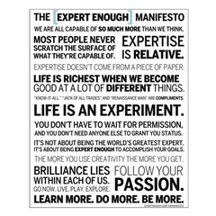 The Expert Enough Manifesto - Poster