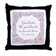 Good Books (berry) Throw Pillow