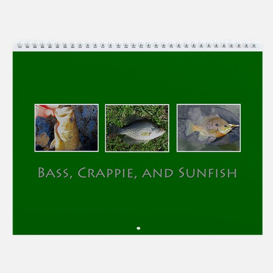 Bass, Crappie, and Sunfish Wall Calendar