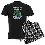 Christmas Peas Men's Dark Pajamas