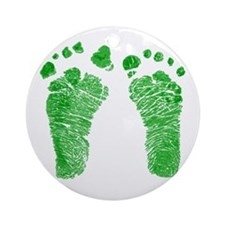Tiny Footsteps Ornament (Round)