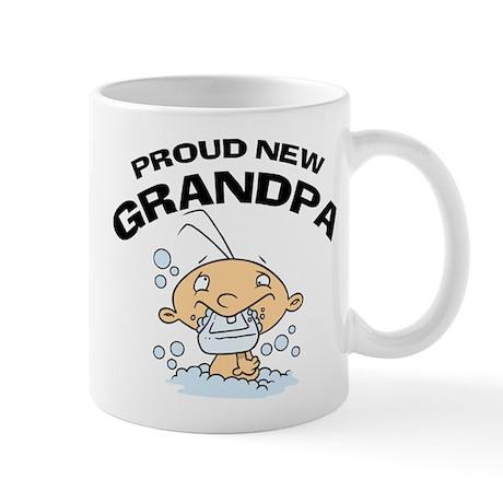 Funny Proud New Grandpa T-Shirts Mug