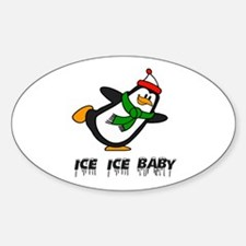 Chilly Willy Ice Ice Baby Sticker (Oval)