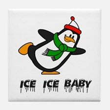 Chilly Willy Ice Ice Baby Tile Coaster