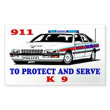 POLICE CAR K9 Stickers
