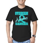 Ovarian Cancer Awareness Men's Fitted T-Shirt (dar