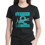Ovarian Cancer Awareness Women's Dark T-Shirt