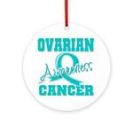 Ovarian Cancer Awareness Ornament (Round)