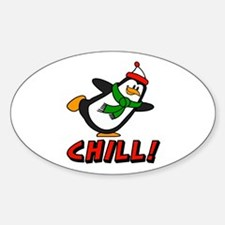 Chilly Willy Chill! Sticker (Oval)