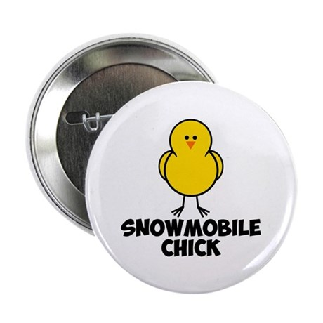 """Snowmobile Chick 2.25"""" Button (100 pack)"""