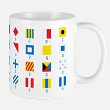 Cute Signal flag nautical Mug