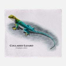 Collared Lizard Throw Blanket