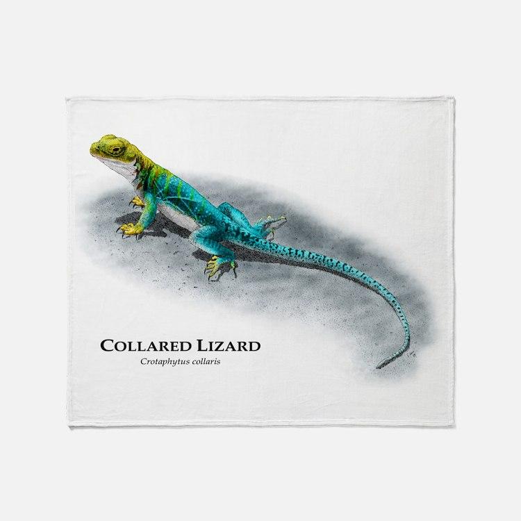 Collared Lizard Throw Blanket