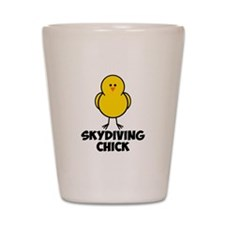 Skydiving Chick Shot Glass