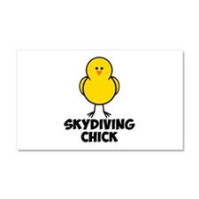 Skydiving Chick Car Magnet 20 x 12