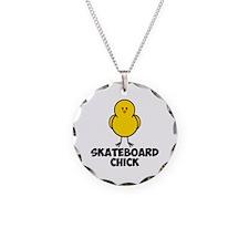 Skateboard Chick Necklace
