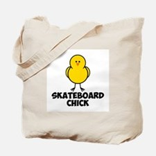 Skateboard Chick Tote Bag