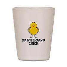 Skateboard Chick Shot Glass