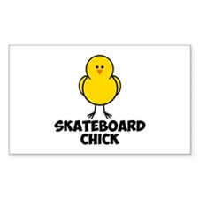 Skateboard Chick Decal