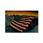 Patriot Mountain Rectangle Magnet (100 pack)