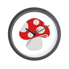 Toadstool fly agaric Wall Clock