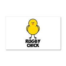 Rugby Chick Car Magnet 20 x 12