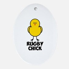 Rugby Chick Ornament (Oval)