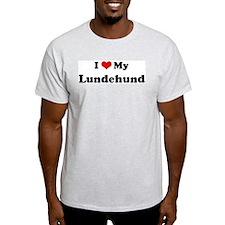 I Love Lundehund Ash Grey T-Shirt