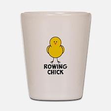 Rowing Chick Shot Glass
