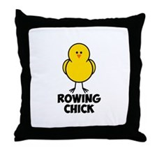 Rowing Chick Throw Pillow