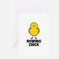 Rowing Chick Greeting Card