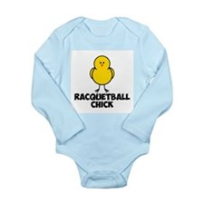 Racquetball Chick Long Sleeve Infant Bodysuit