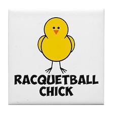 Racquetball Chick Tile Coaster