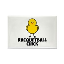 Racquetball Chick Rectangle Magnet