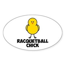 Racquetball Chick Decal