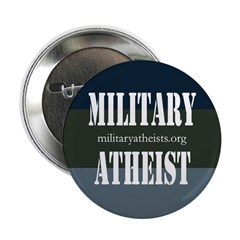 """Atheists in Foxholes 2.25"""" Button"""
