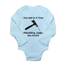 one nail at a time Long Sleeve Infant Bodysuit