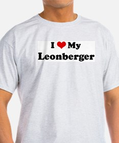 I Love Leonberger Ash Grey T-Shirt
