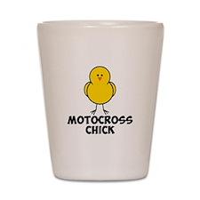 Motocross Chick Shot Glass