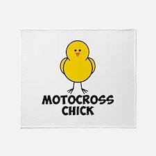 Motocross Chick Throw Blanket