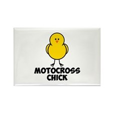 Motocross Chick Rectangle Magnet