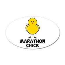 Marathon Chick 38.5 x 24.5 Oval Wall Peel
