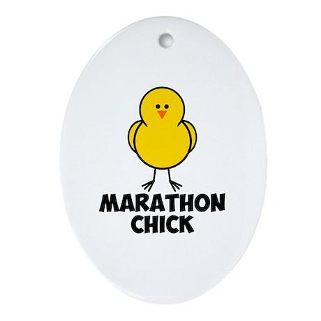 Marathon Chick Ornament (Oval)