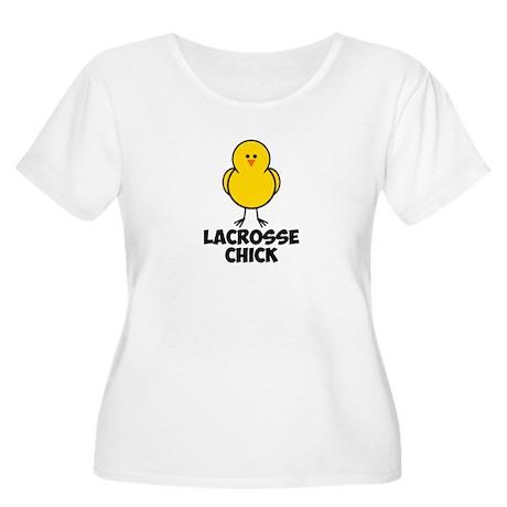 Lacrosse Chick Women's Plus Size Scoop Neck T-Shir