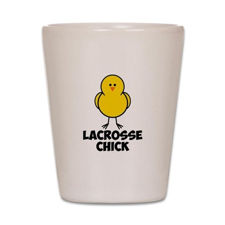 Lacrosse Chick Shot Glass