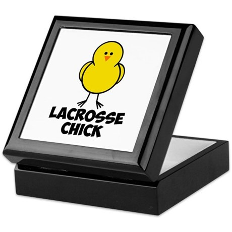 Lacrosse Chick Keepsake Box