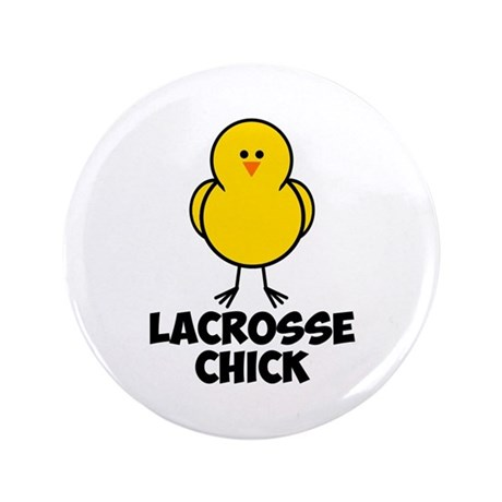 "Lacrosse Chick 3.5"" Button"